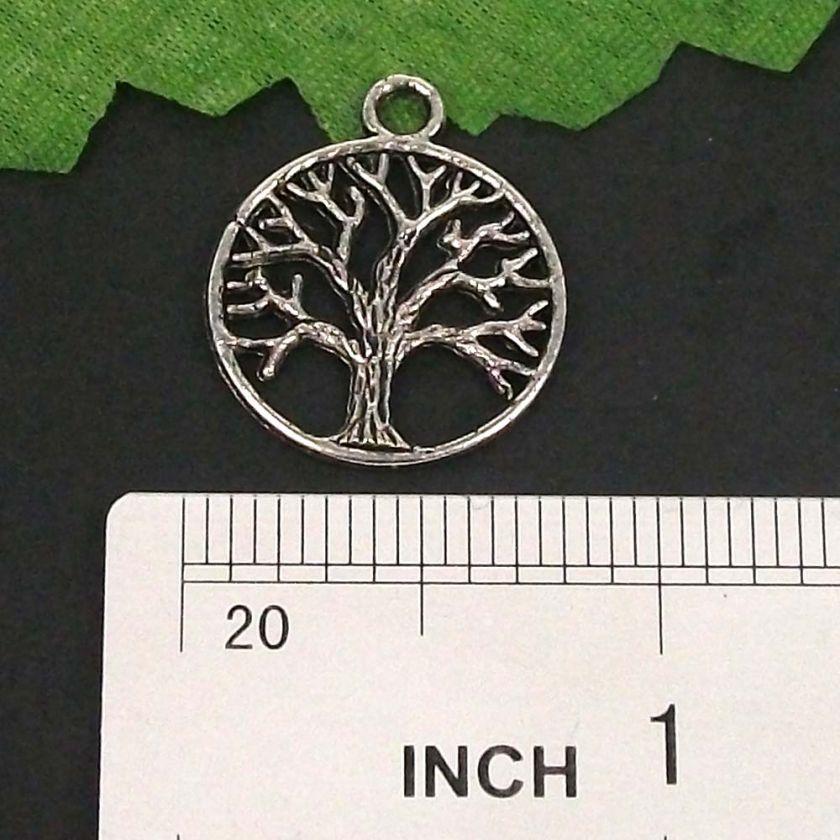 lots 60pcs Tibetan silver TREE DANGLE Charms pendant
