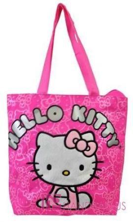 NWT Licensed SANRIO HELLO KITTY SHOPPER TOTE PURSE BAG KIDS PINK