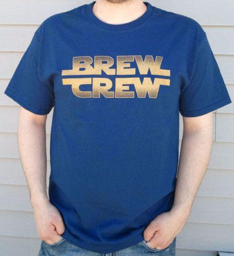 Milwaukee BREW CREW Sar Wars Fon  shir   NAVY |